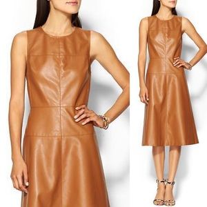 (NWT) Piperlime - Vegan Leather Fit & Flare Dress